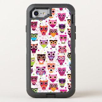 Funda OtterBox Defender Para iPhone 8/7 Modelo colorido del búho para los niños 2
