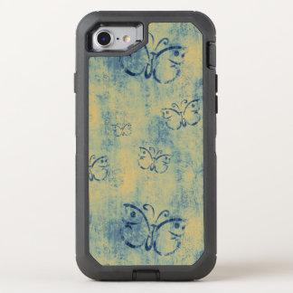 Funda OtterBox Defender Para iPhone 8/7 Modelo de mariposas azul del vintage