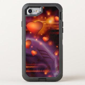 Funda OtterBox Defender Para iPhone 8/7 Modelo rojo hermoso del amor