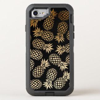 Funda OtterBox Defender Para iPhone 8/7 modelo tropical de la piña del falso oro elegante