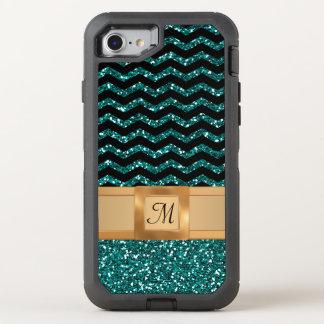 Funda OtterBox Defender Para iPhone 8/7 Monograma del modelo de Chevron del brillo del