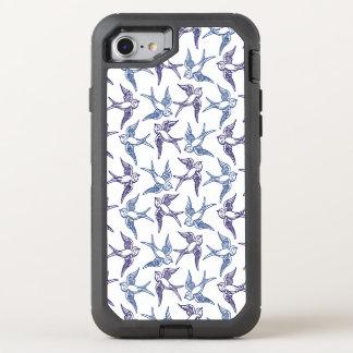 Funda OtterBox Defender Para iPhone 8/7 Multitud de pájaros bosquejados
