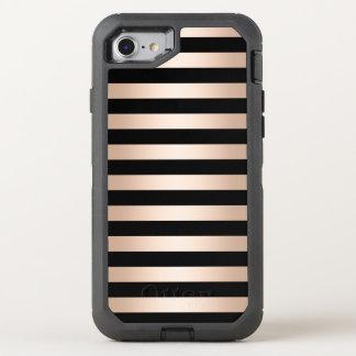 Funda OtterBox Defender Para iPhone 8/7 Negro subió polluelo moderno elegante del oro