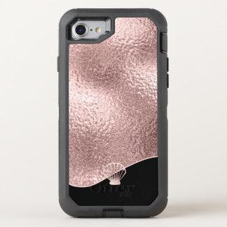 Funda OtterBox Defender Para iPhone 8/7 Oro subió Seashell de cristal ID363