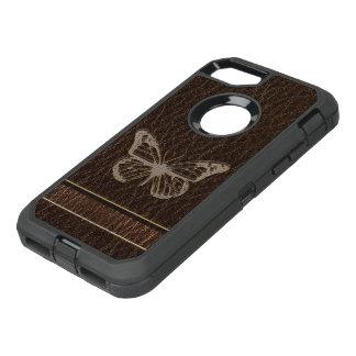 Funda OtterBox Defender Para iPhone 8/7 Oscuridad de la mariposa de la Cuero-Mirada
