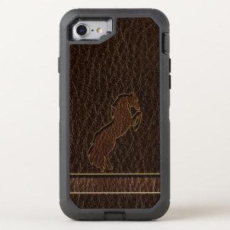Funda OtterBox Defender Para iPhone 8/7 Oscuridad del caballo 2 de la Cuero-Mirada