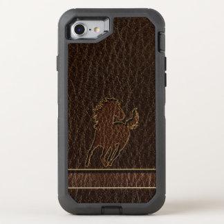 Funda OtterBox Defender Para iPhone 8/7 Oscuridad del caballo de la Cuero-Mirada