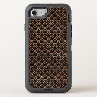 FUNDA OtterBox DEFENDER PARA iPhone 8/7 PIEDRA NEGRA DEL MÁRMOL SCALES2 Y DE BROWN