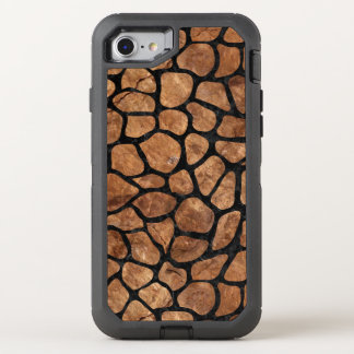 FUNDA OtterBox DEFENDER PARA iPhone 8/7 PIEDRA NEGRA DEL MÁRMOL SKIN1 Y DE BROWN