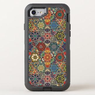 Funda OtterBox Defender Para iPhone 8/7 Remiendo del vintage con los elementos florales de