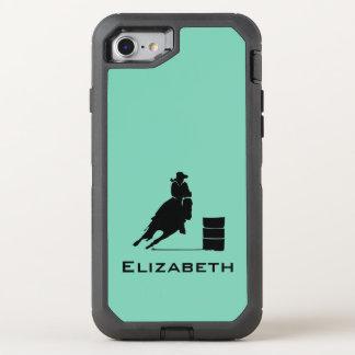 Funda OtterBox Defender Para iPhone 8/7 Rodeo de la silueta del corredor del barril de la