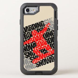 Funda OtterBox Defender Para iPhone 8/7 Snowboard #1 (negro)