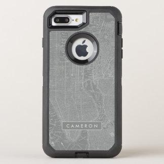 Funda OtterBox Defender Para iPhone 8 Plus/7 Plus Bosquejo del mapa de New York City