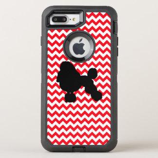 Funda OtterBox Defender Para iPhone 8 Plus/7 Plus Coche de bomberos Chevron rojo con la silueta del