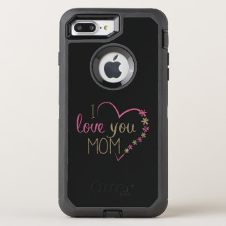 Funda OtterBox Defender Para iPhone 8 Plus/7 Plus Corazón del día de madres de la mamá del amor