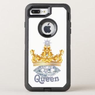 Funda OtterBox Defender Para iPhone 8 Plus/7 Plus Corona y diamantes, caso del oro de la reina de