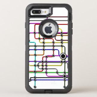 Funda OtterBox Defender Para iPhone 8 Plus/7 Plus Diseño del subterráneo del caso de Iphone 7