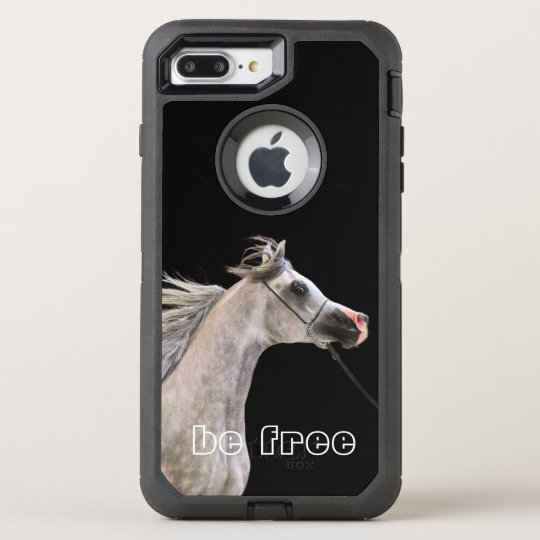 Funda OtterBox Defender Para iPhone 8 Plus/7 Plus esté libre. colección del caballo. gris árabe