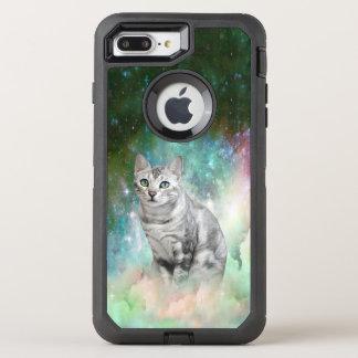 Funda OtterBox Defender Para iPhone 8 Plus/7 Plus Galaxia del gatito de Purrsia