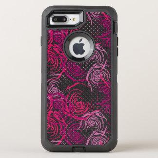 Funda OtterBox Defender Para iPhone 8 Plus/7 Plus Impresión de los rosas