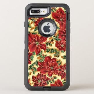 Funda OtterBox Defender Para iPhone 8 Plus/7 Plus iPhone 7 del estampado de flores del navidad más