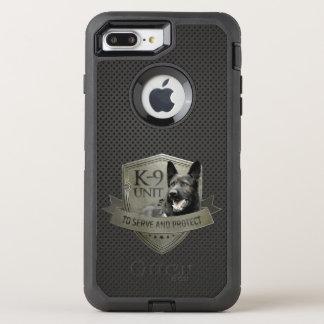 Funda OtterBox Defender Para iPhone 8 Plus/7 Plus K-9 unidad GSD - perro de pastor alemán de trabajo