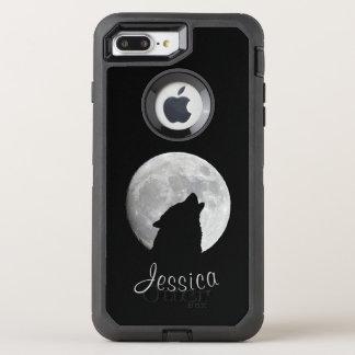 Funda OtterBox Defender Para iPhone 8 Plus/7 Plus Lobo que grita en la Luna Llena, su nombre