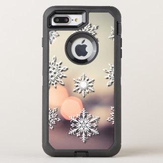 Funda OtterBox Defender Para iPhone 8 Plus/7 Plus Luces y copo de nieve de navidad