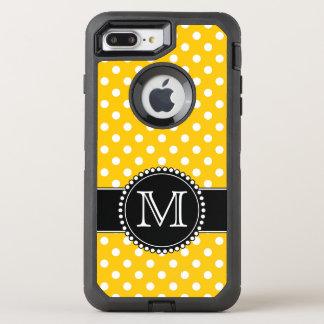 Funda OtterBox Defender Para iPhone 8 Plus/7 Plus Lunares amarillos, cones monograma
