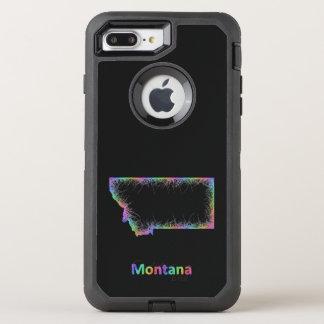 Funda OtterBox Defender Para iPhone 8 Plus/7 Plus Mapa de Montana del arco iris