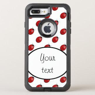 Funda OtterBox Defender Para iPhone 8 Plus/7 Plus Mariquitas en rojo