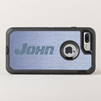 Funda OtterBox Defender Para iPhone 8 Plus/7 Plus Mirada moderna del acero negro y inoxidable