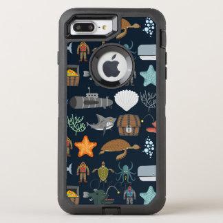 Funda OtterBox Defender Para iPhone 8 Plus/7 Plus Modelo 1 de los habitantes del océano