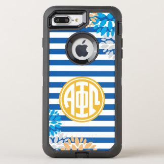 Funda OtterBox Defender Para iPhone 8 Plus/7 Plus Modelo alfa de la raya del monograma de Omega el |