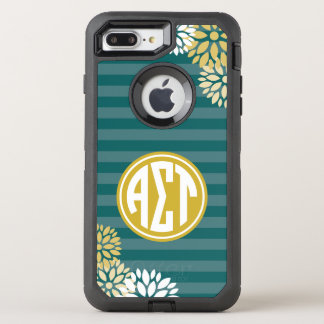 Funda OtterBox Defender Para iPhone 8 Plus/7 Plus Modelo alfa de la raya del monograma del Tau el |