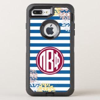Funda OtterBox Defender Para iPhone 8 Plus/7 Plus Modelo beta de la raya del monograma de la phi el