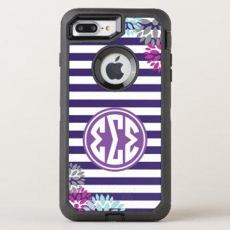 Funda OtterBox Defender Para iPhone 8 Plus/7 Plus Modelo de la raya del monograma de la sigma el |