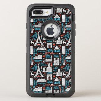 Funda OtterBox Defender Para iPhone 8 Plus/7 Plus Modelo de los símbolos de Francia el |
