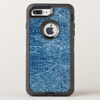 Funda OtterBox Defender Para iPhone 8 Plus/7 Plus Modelo del mapa de los E.E.U.U.