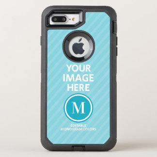 Funda OtterBox Defender Para iPhone 8 Plus/7 Plus Monograma de encargo de la foto