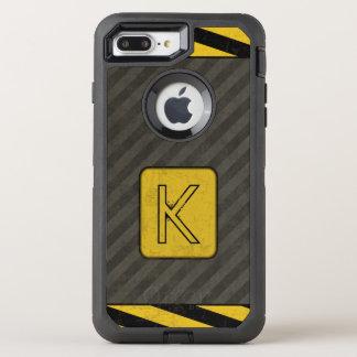 Funda OtterBox Defender Para iPhone 8 Plus/7 Plus Monograma industrial del Grunge