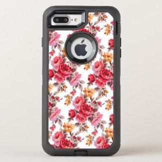 Funda OtterBox Defender Para iPhone 8 Plus/7 Plus Otterbox floral 7 del modelo de los rosas del