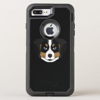 Funda OtterBox Defender Para iPhone 8 Plus/7 Plus Perro de montaña de Bernese del ilustracion