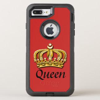 Funda OtterBox Defender Para iPhone 8 Plus/7 Plus Rojo de la reina y caso de Otterbox del oro