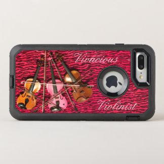 Funda OtterBox Defender Para iPhone 8 Plus/7 Plus Violines rosados adaptables del violinista vivaz