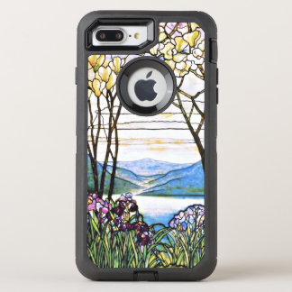 Funda OtterBox Defender Para iPhone 8 Plus/7 Plus Vitral idílico de Tiffany del paisaje