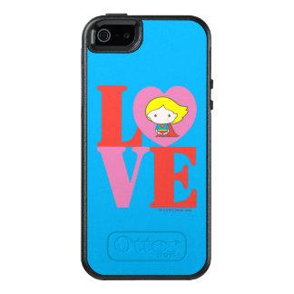 Funda Otterbox Para iPhone 5/5s/SE AMOR de Chibi Supergirl