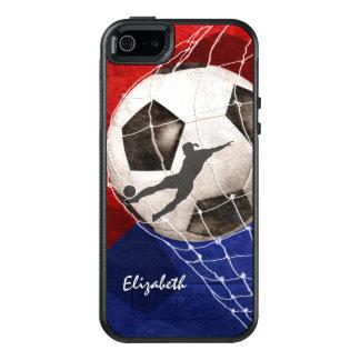 Funda Otterbox Para iPhone 5/5s/SE Balón de fútbol que abolla el fútbol del chica