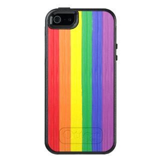Funda Otterbox Para iPhone 5/5s/SE Bandera pintada del arco iris
