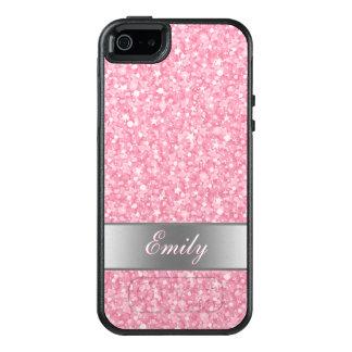 Funda Otterbox Para iPhone 5/5s/SE Brillo chispeante con monograma del rosa y del